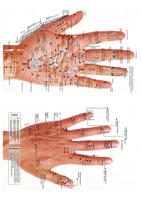 Плакат восточная медицина.Точки массажа на руке